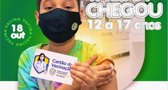 Covid-19: Dia de vacinação na Barra de Santo Antônio para adolescentes a partir dos 12 anos e para outros grupos prioritários