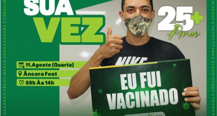 Barra de Santo Antônio vacina contra a Covid-19 pessoas a partir dos 25 anos nesta quarta-feira