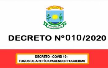 DECRETO - COVID 19 -  Fogos de artifícios/Acender fogueiras