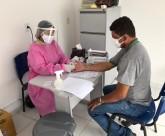 Saúde realiza mutirão de testes rápidos para a Covid-19 em profissionais
