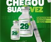 Barra de Santo Antônio vacina contra a Covid pessoas com 29 anos nesta sexta-feira