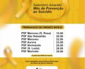 Prefeitura da Barra de Santo Antônio lança programação em alusão ao Setembro Amarelo
